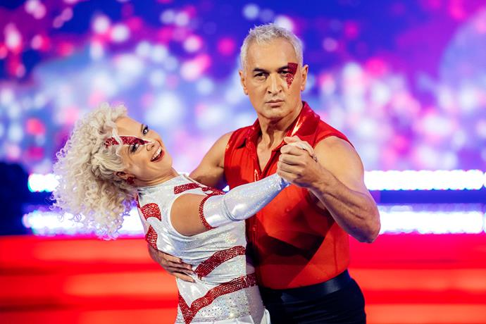 Strutting his stuff on *Dancing with the Stars* with partner Kristie Williams