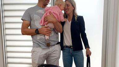 Gemma and Richie McCaw take baby Charlotte on her first long-haul flight - and Charlotte has a ball