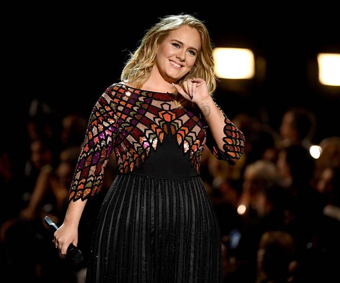 Adele at the 59th Grammy Awards in 2017