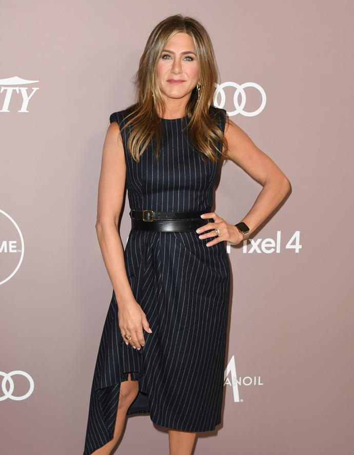 At 50, Jen doesn't look a day older than her *Friends* character, Rachel. *(Image: Getty)*