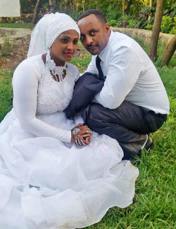 Zeynia and Abbas on their wedding day in Ethiopia in 2015.
