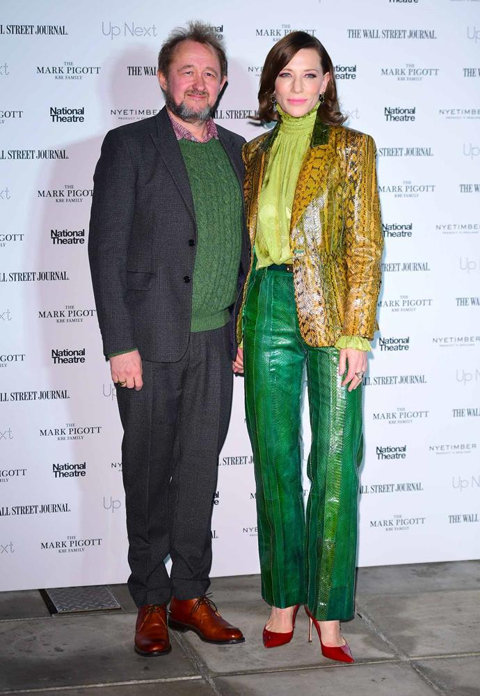 With husband Andrew Upton