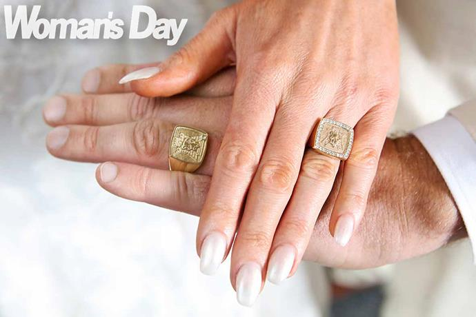 The couple's matching signet rings *Photo: Robert Trathen*