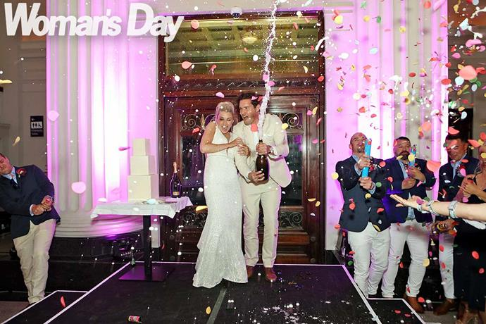 Champagne and confetti get the party started! *Photo: Robert Trathen*