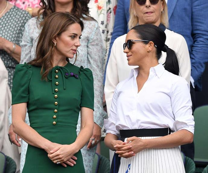 kate middleton and meghan markle wimbledon