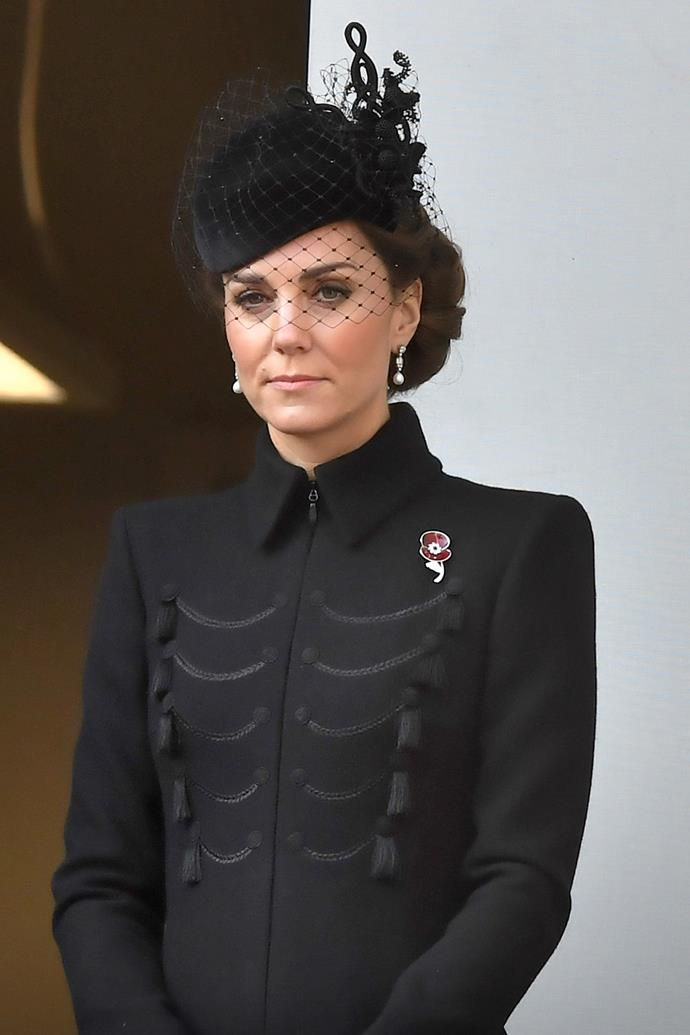 Duchess Catherine wore a very special brooch for a very touching reason. *(Image: Getty)*