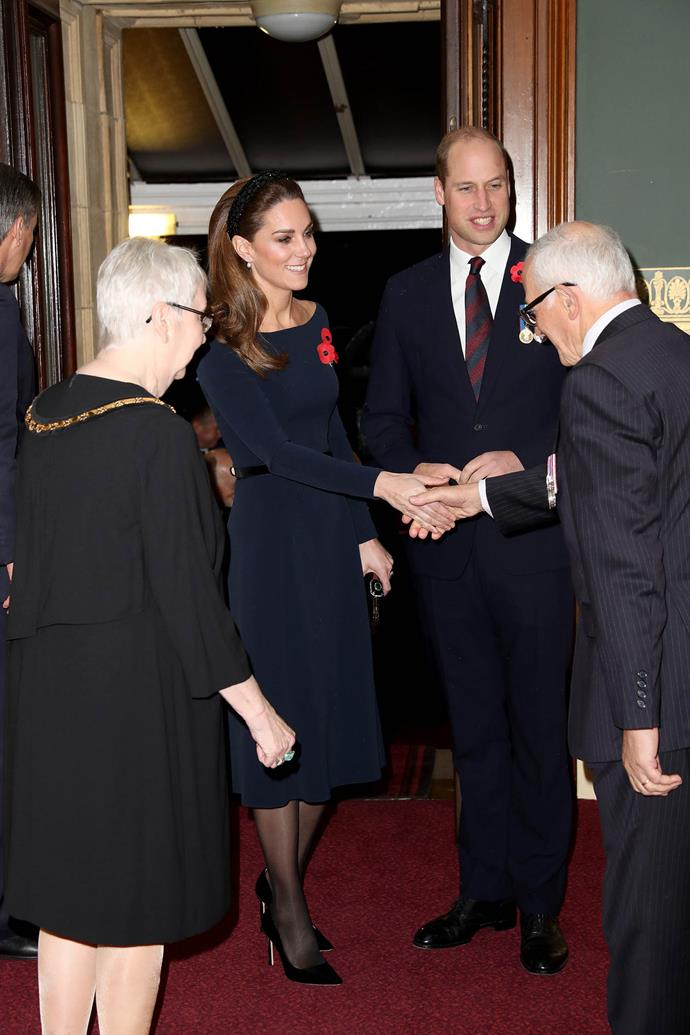 Duchess Catherine opted for high street retailer Zara for her Festival of Remembrance look. *(Image: Getty)*