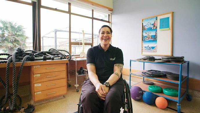 A far cry from her life as a forklift driver, AJ is thriving with her business Wheelie Active.