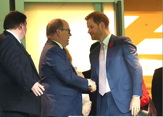Prince Albert of Monaco revealed he offered his support and a few words of advice to Prince Harry when they met recently in Japan. *(Image: Getty)*