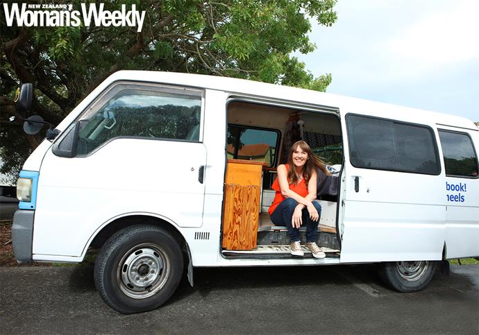 "Jackie says "" there's pretty much nothing you can't accomplish while living in a van"""
