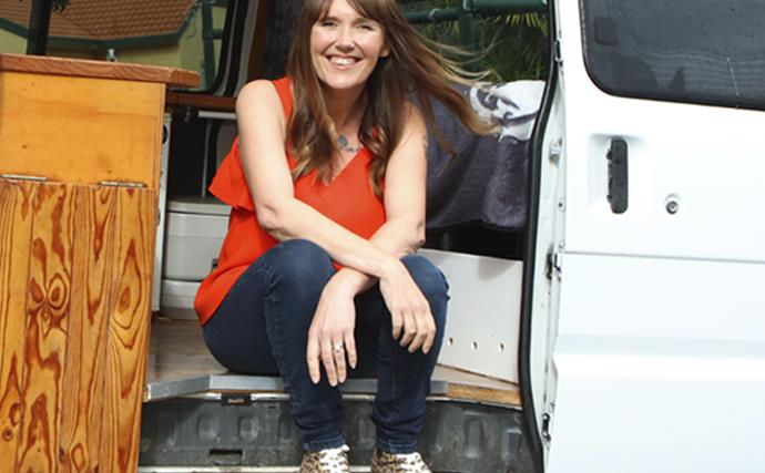 Jackie Norman lives in a van