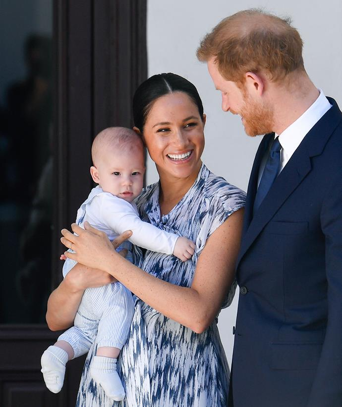 Archie, Meghan and Harry will be spending Christmas with Meghan's mother Doria Ragland this year. *(Image: Getty)*