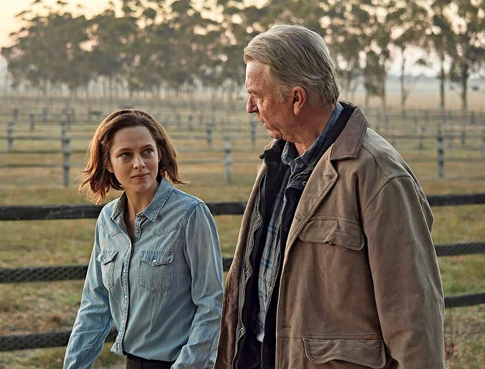 Teresa Palmer and Sam Neill in Ride Like a Girl.