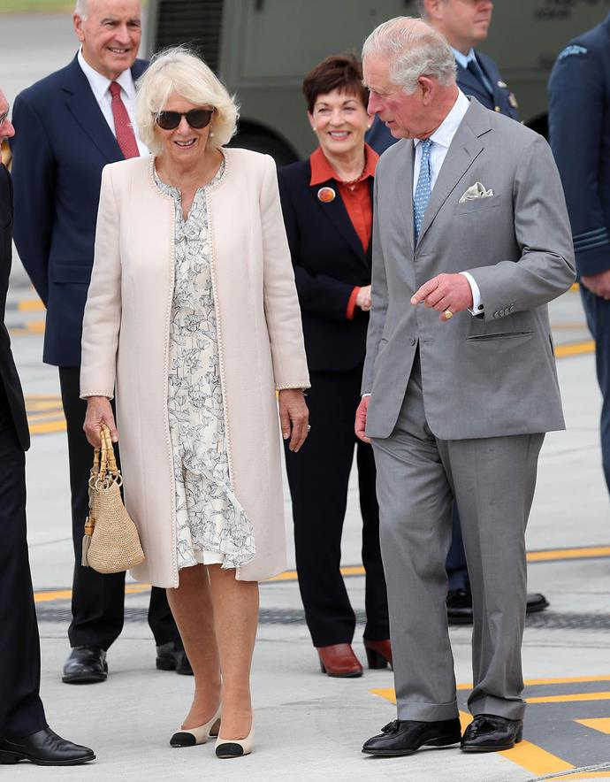 Prince Charles and Duchess Camilla touched down in Auckland on Sunday afternoon. *(Image: Getty)*