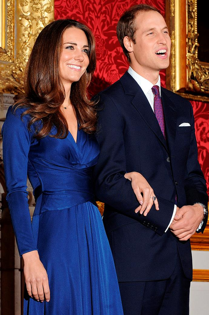 William and Kate fronting the media on the announcement of their engagement in 2010.