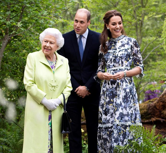 William and Kate introduce with the Queen to the Back to Nature Garden.