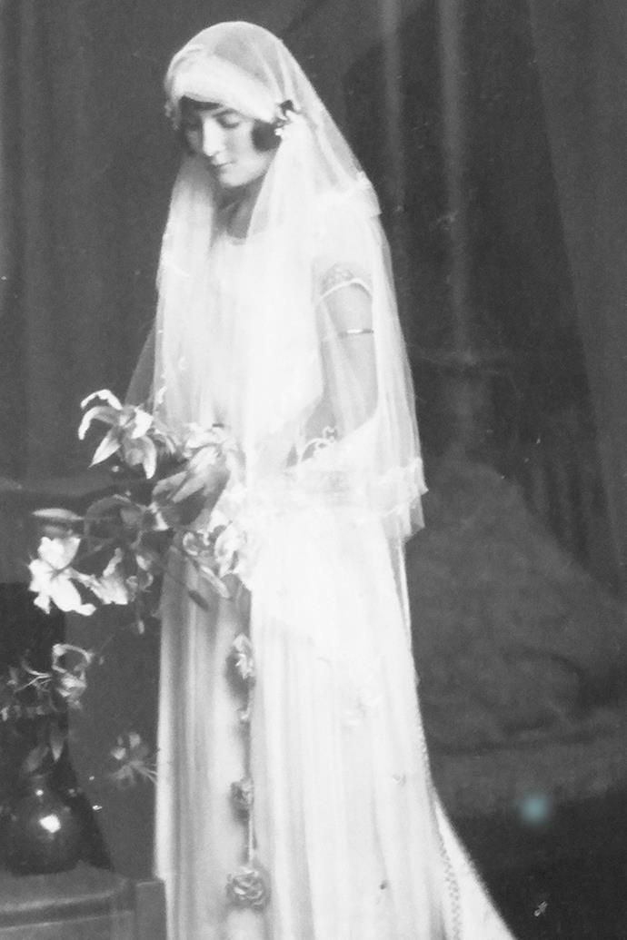 Muriel on her wedding day circa 1923.