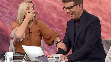 Hayley Holt drops the f-bomb live on Breakfast TV