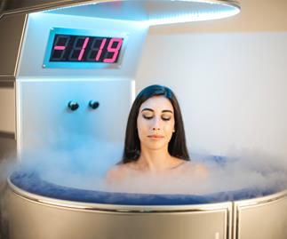 Woman having cryotherapy