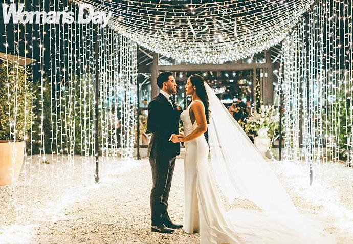 Fairy lights made for a spectacular backdrop at the reception. *Image: Laval Photo and Video.*