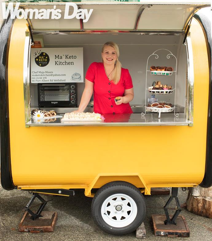 """Maja's guilt-free food truck has customers drooling. """"You wouldn't know they're any different from the real stuff."""""""