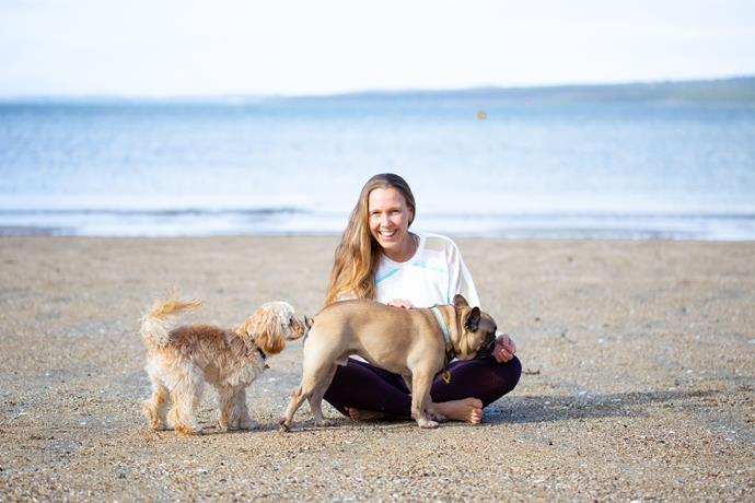 Naturopath Erin O'Hara with at one of her favourite places to be - the beach! *(Image: Supplied)*
