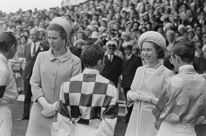 Princess Anne (left) was known for being a bit of a rebel in her youth, shown in the new season of Netflix's *The Crown*. (Image: Getty)
