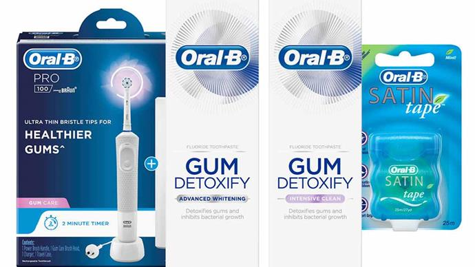 Win a gum health prize pack with Oral B and Woman's Day!