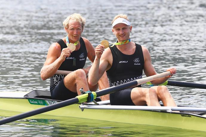 Golden guys Hamish and Eric on their last victorious Olympic campaign in Rio, 2016. *Image: Getty*