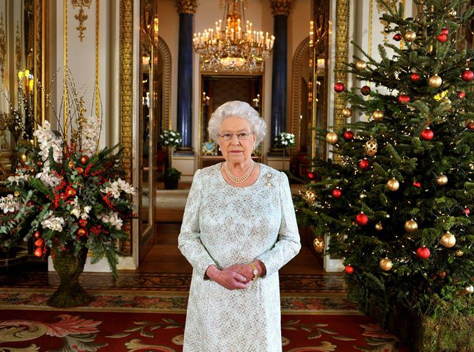 Queen Elizabeth filmed her annual Christmas message in 3D in 2012 for her Jubilee year. *(Image: Getty)*