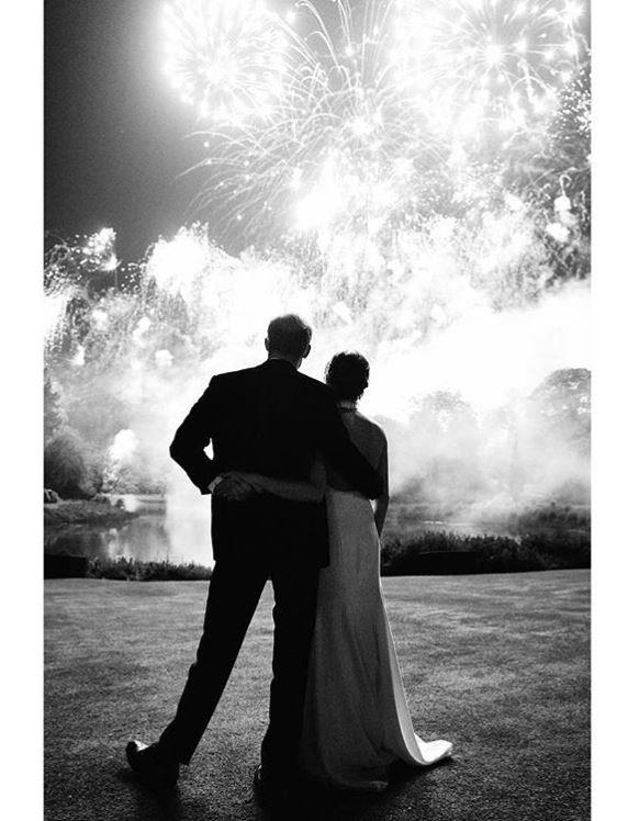 For their first royal Christmas card as a married couple in 2018, Prince Harry and Duchess Meghan shared a beautiful black and white image from their wedding reception at Frogmore House in May. And you bet we've got our fingers crossed little Archie will make an appearance on their Christmas card this year!