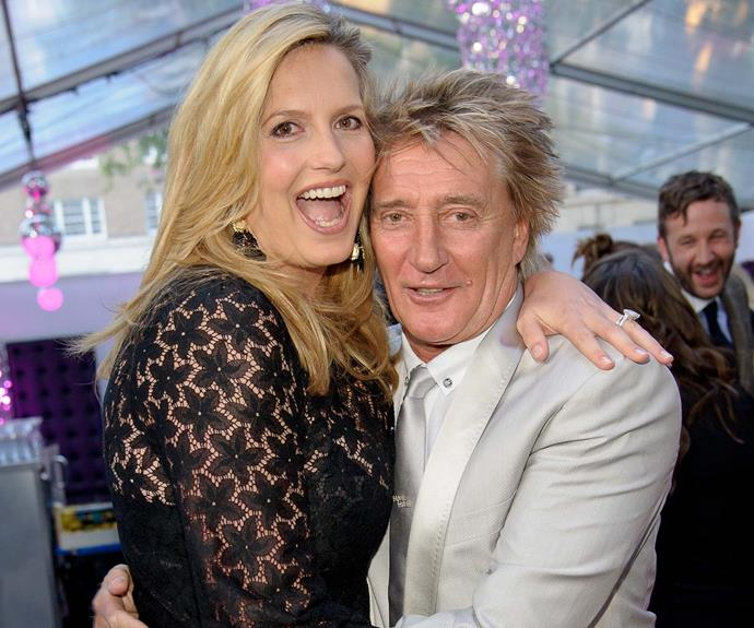 Rod with his third wife, Penny Lancaster. The couple has been married 12 years.
