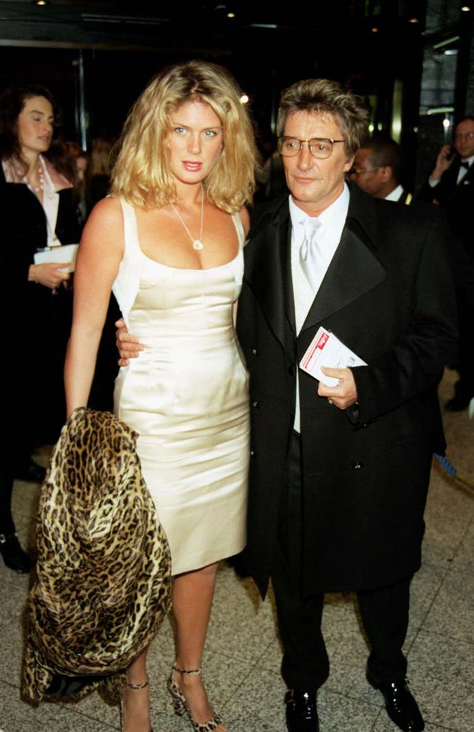 Rod and Rachel at the premiere of Evita in London in 1996.