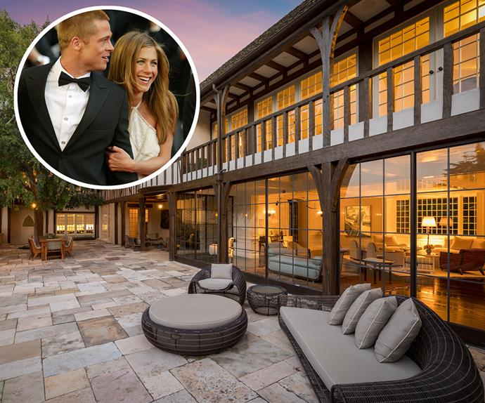 brad pitt jennifer aniston los angeles home for sale