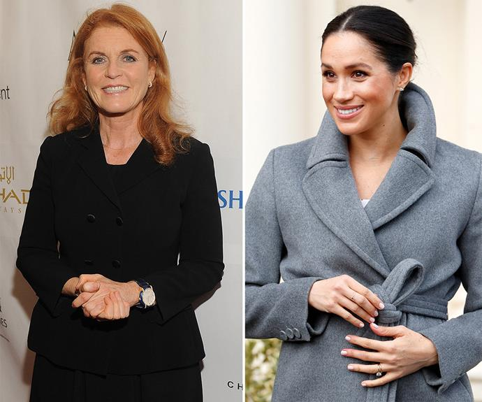 The Duchess of York says she can relate to Meghan, saying she's been in her shoes. *(Images: Getty)*