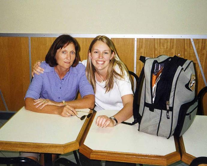 Mum and daughter before Jacinda flew the coop for uni in Arizona.