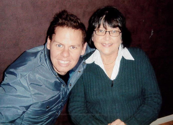 Paddy with his mum in 2006.