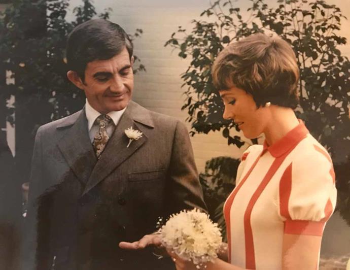 Julie marrying Blake in 1969.