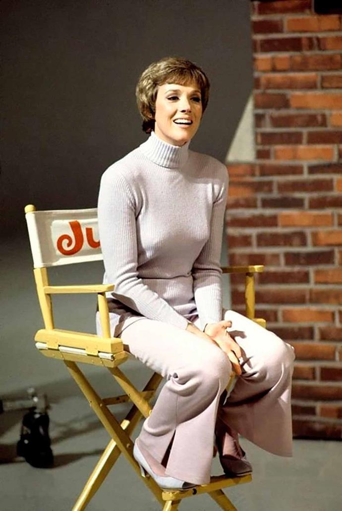 Julie on set.