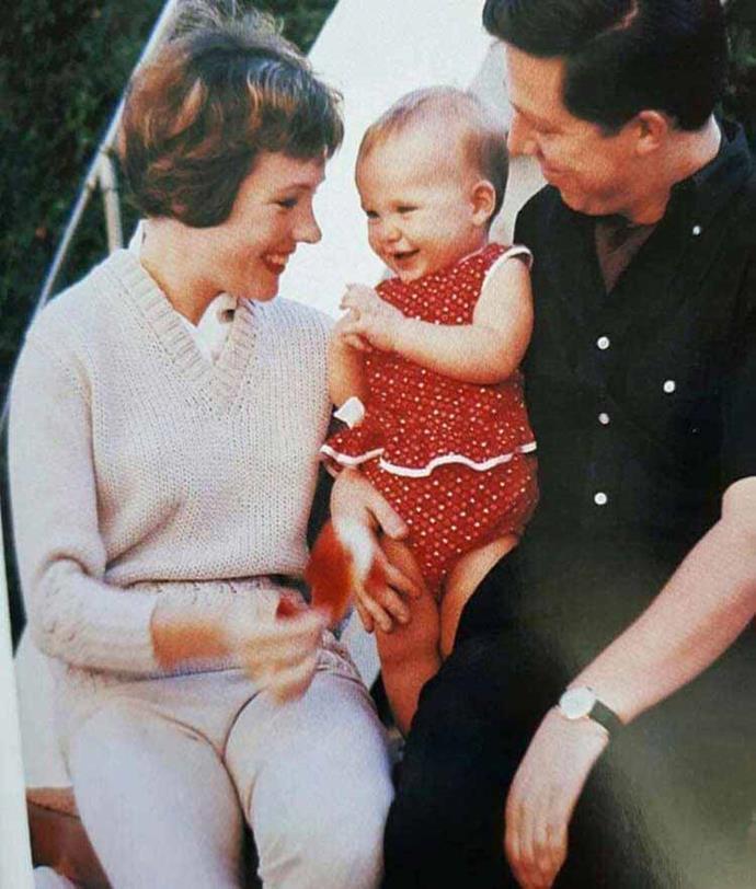 Julie with Tony Walton and Emma.