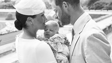 The Sussexes' first royal Christmas card as a family-of-three has been revealed