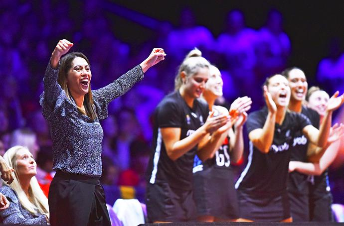 Celebrating with the Silver Ferns