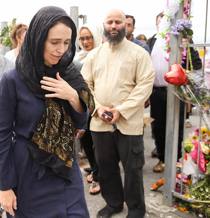 The Prime Minister after a visit to the Kilbirnie Mosque in March.