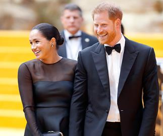 meghan markle and prince harry lion king