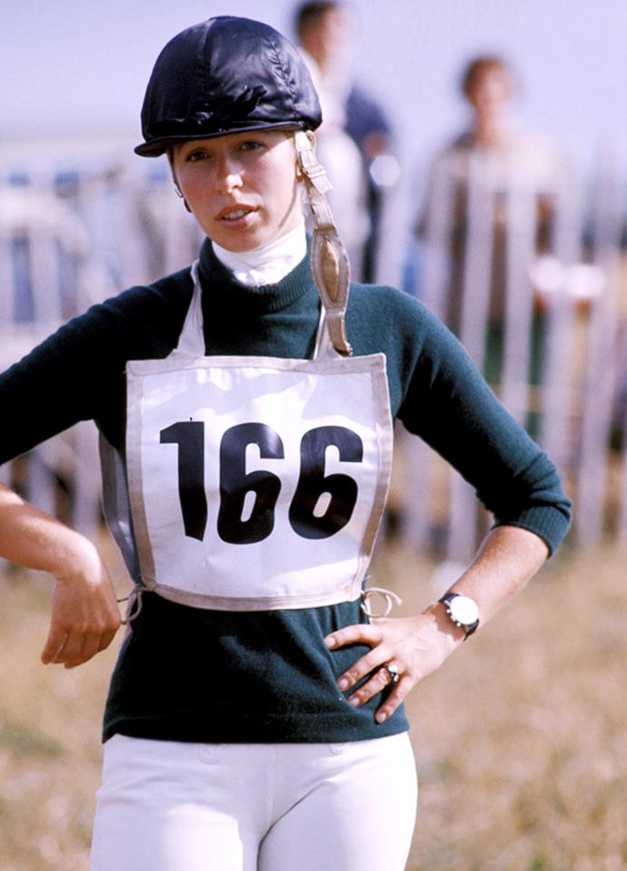Princess Anne at the Wyle Horse Trails in 1976