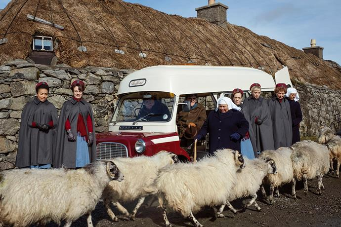 Filming the *Call the Midwife Christmas Special* in Scotland's most remote isles was an eye-opening experience.