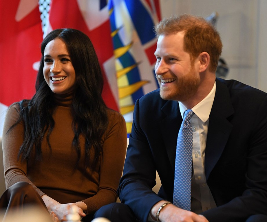 Meghan, Harry and Archie have reportedly left Canada to settle in Meghan's hometown LA. *(Image: Getty)*