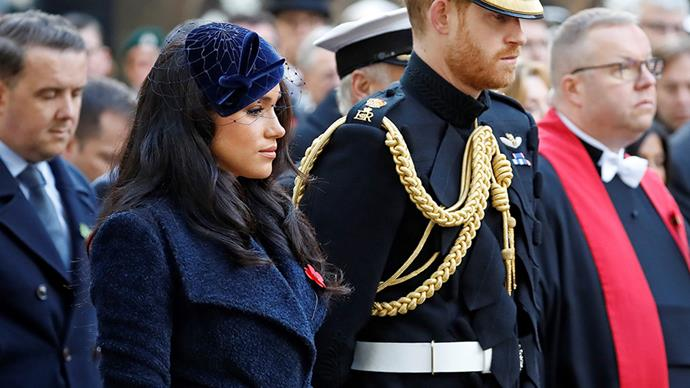 meghan markle prince harry remembrance