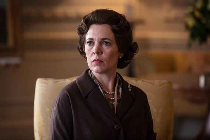 Well, at least what Olivia Colman's Queen Elizabeth's face  will look like...*(Image: Netflix)*