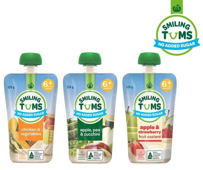 Try Smiling Tums as a convenient on-the-go meal for your baby or toddler. Available at Countdown.